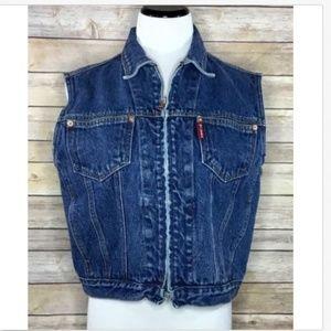 Columbia Vtg Womens Sleeveless Denim Jean Vest J24